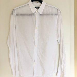 White Theory Linen blend Button down shirt